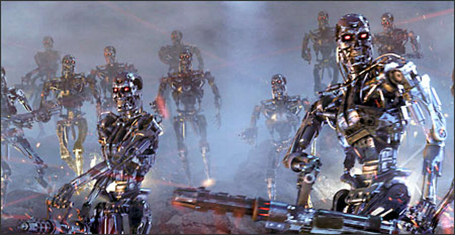 "Machines supplant mankind after triggering a nuclear war in the popular ""Terminator"" series. Photo: Warner Bros. Pictures"