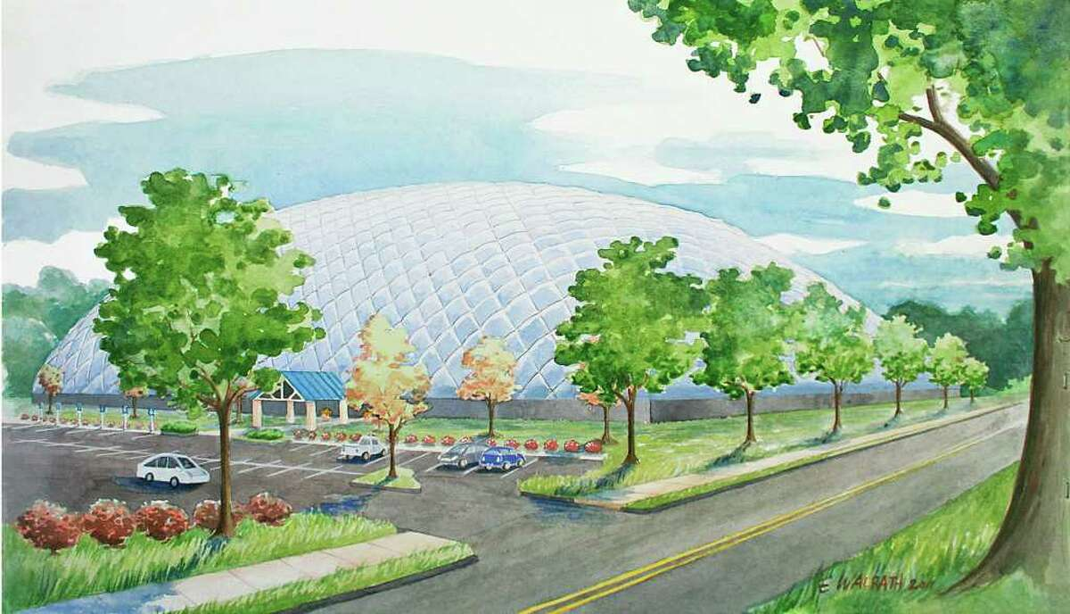 Danbury Sports Dome, artist's rendering by Erin Walrath