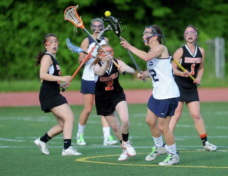 during Friday's game at Staples High School on May 20, 2011. Photo: Lindsay Niegelberg / Connecticut Post