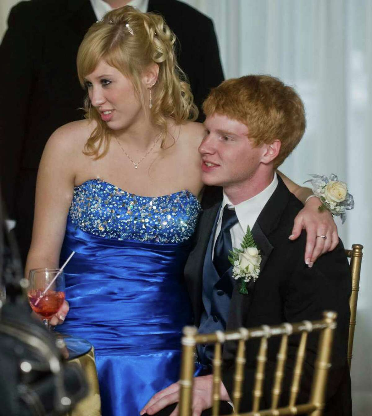 Abbott Tech seniors Ashley Nusser and Andrew Sawyer at the Abbott Tech senior prom held at the Fox Hill Inn in Brookfield. Friday, May 20, 2011
