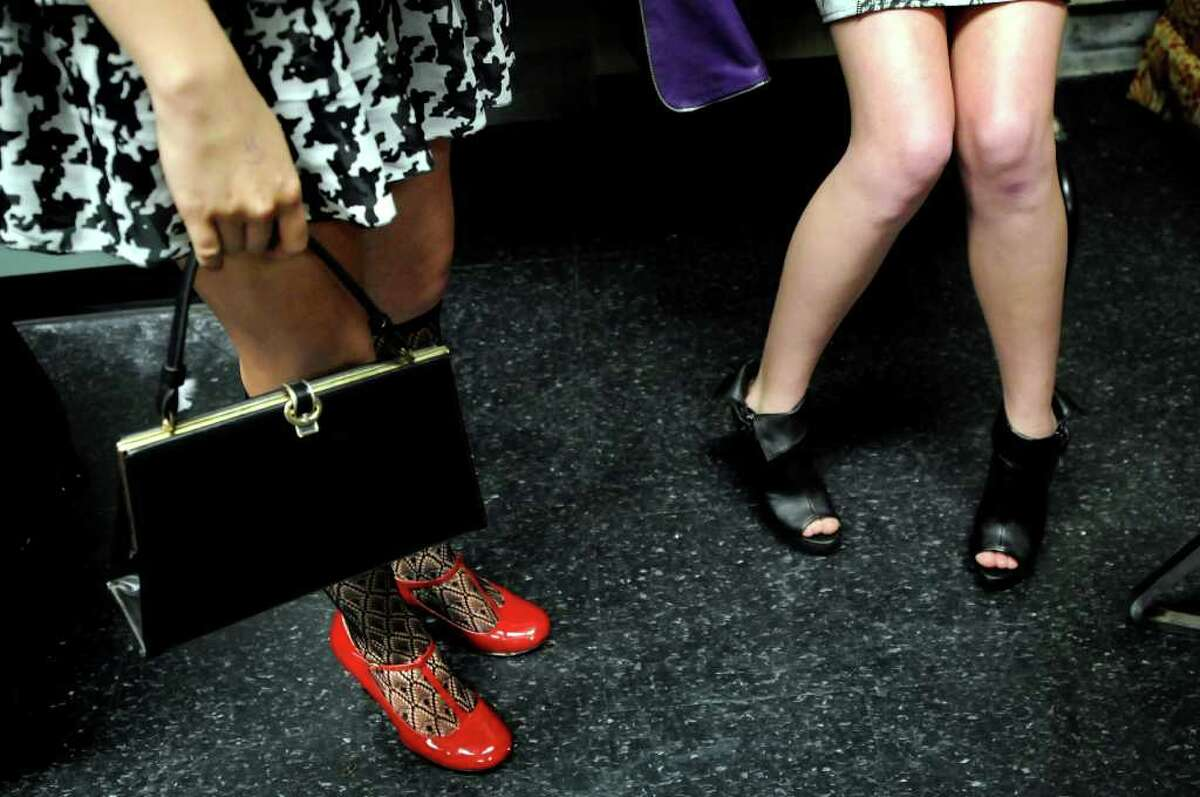 Models wait backstage during the Electric City Courture fashion show on Friday, May 20, 2011, at Proctors in Schenectady, N.Y. (Cindy Schultz / Times Union)