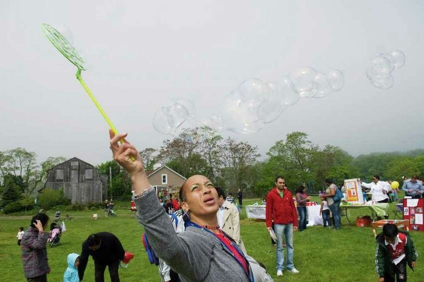 Families enjoy the 4th Annual Early Childhood Fair at Cove Island Park in Stamford, Conn. on Saturday May 21, 2011.