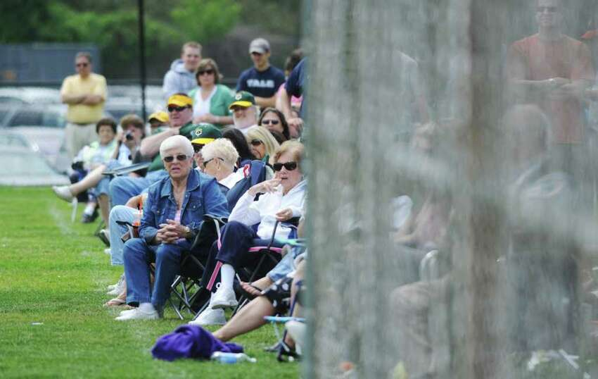 Fans watch as Stamford High takes on Trinity Catholic in baseball action in Stamford, Conn. on Saturday May 21, 2011.