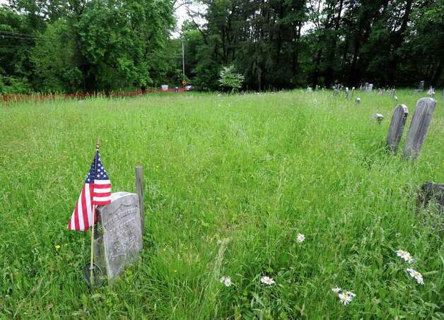 Sparta Cemetery in Ossining, N.Y., Thursday May 19, 2011.  A person known as The Leather Man, a wanderer who dressed in a leather outfit and lived from 1858-1889, is thought to be buried in the cemetery.  An exhumation and identification of the person thought to be The Leather Man will be take place at the cemetery on Monday and Tuesday with a reburial at this site pictured here on Wednesday. Photo: Bob Luckey / Greenwich Time