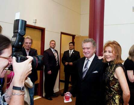 Regis and Joy Philbin arrive for the Dana's Angels Research Trust Benefit Gala & Frankie Valli and the Four Seasons Concert at The Palace Theatre in Stamford, Conn. on Friday May 20, 2011. Photo: Kathleen O'Rourke / Stamford Advocate