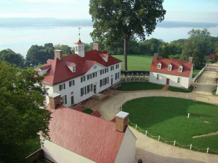 An aerial view of the mansion at Mt. Vernon.  Credit: Mount Vernon Ladies? Association