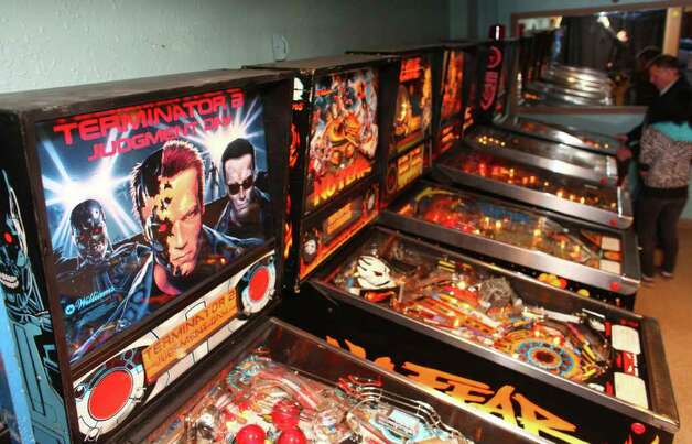 The Terminator 2, Judgement Day pinball machine is unplayed in a corner of Dorky's arcade during a rapture party on Saturday, May 21, 2011 in Tacoma, Wash. Groups of local atheists gathered at the arcade in Tacoma on the day that radio minister Harold Camping predicted would be the beginning of rapture. Photo: JOSHUA TRUJILLO / SEATTLEPI.COM