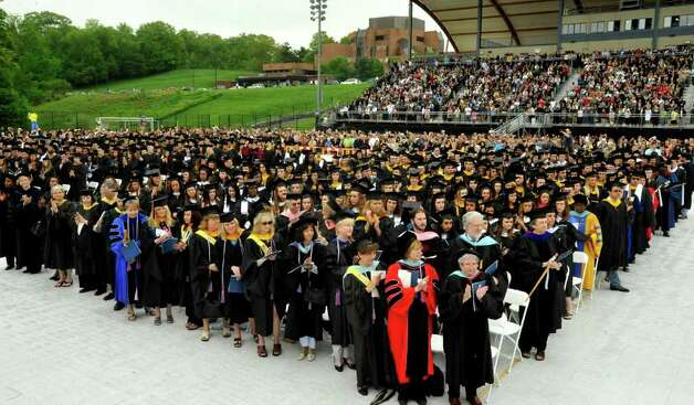 Commencement ceremonies were held at Western Connecticut State University, in Danbury, Sunday, May 22, 2011, Photo: Michael Duffy / The News-Times
