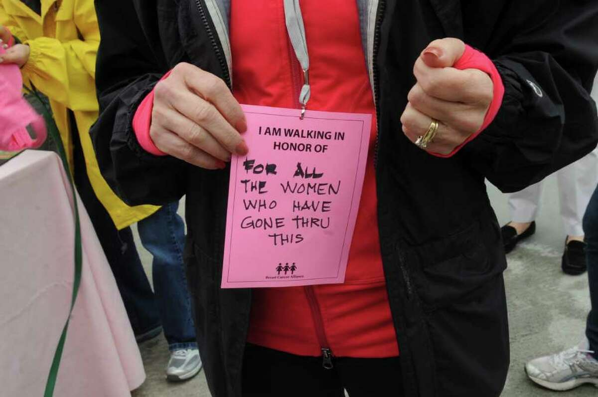 Anna Marie Vlad, of Greenwich, a surviver of breast cancer is walking