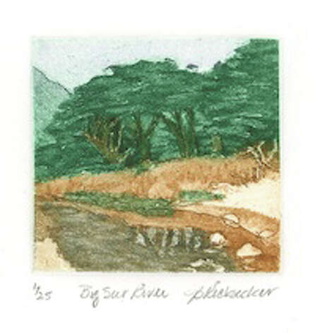 """Big Sur River"" 2009, etching by second prize winner Julie Ricksecker. Photo: Contributed Photo / Norwalk Citizen"
