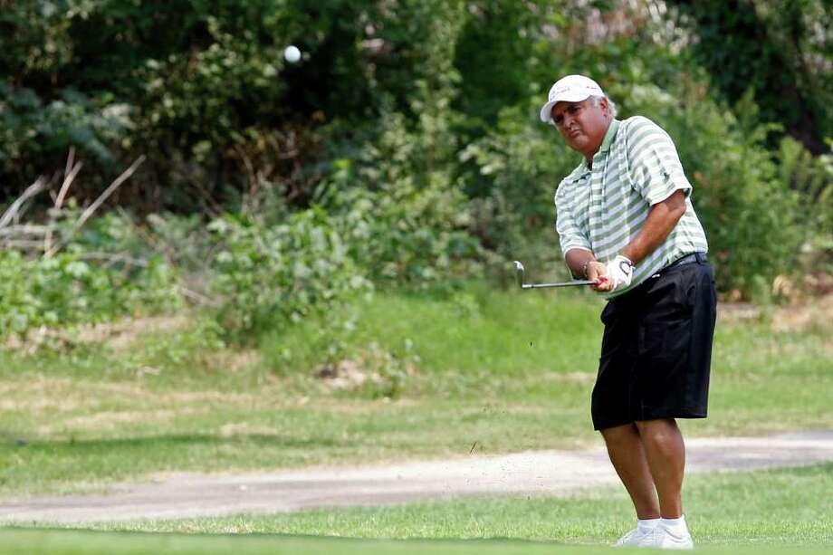 Harry Ramirez plays in the final round of the Greater San Antonio Men's Mid-Amateur Championship at Pecan Valley Golf Course, Sunday, May 22, 2011. JERRY LARA/glara@express-news.net / SAN ANTONIO EXPRESS-NEWS