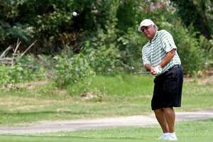 Harry Ramirez plays in the final round of the Greater San Antonio Men's Mid-Amateur Championship at Pecan Valley Golf Course, Sunday, May 22, 2011. JERRY LARA/glara@express-news.net