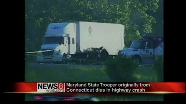 Maryland State Trooper Shaft S. Hunter, a Bridgeport, Conn. native, was killed in a crash on I-95 in Maryland on Saturday, May 21, 2011.