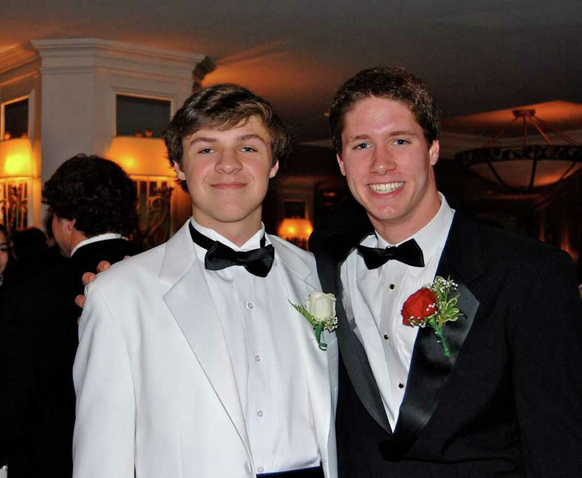Logan Williams and Jason Potter at the NCHS Senior Prom.