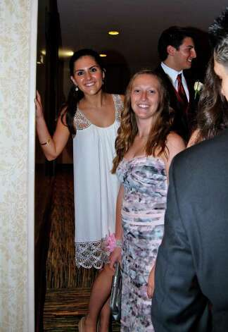 Stefanie Decker and Kate Mannelly at the NCHS Senior Prom last Friday night, May 20, 2011. Photo: Jeanna Petersen Shepard / New Canaan News