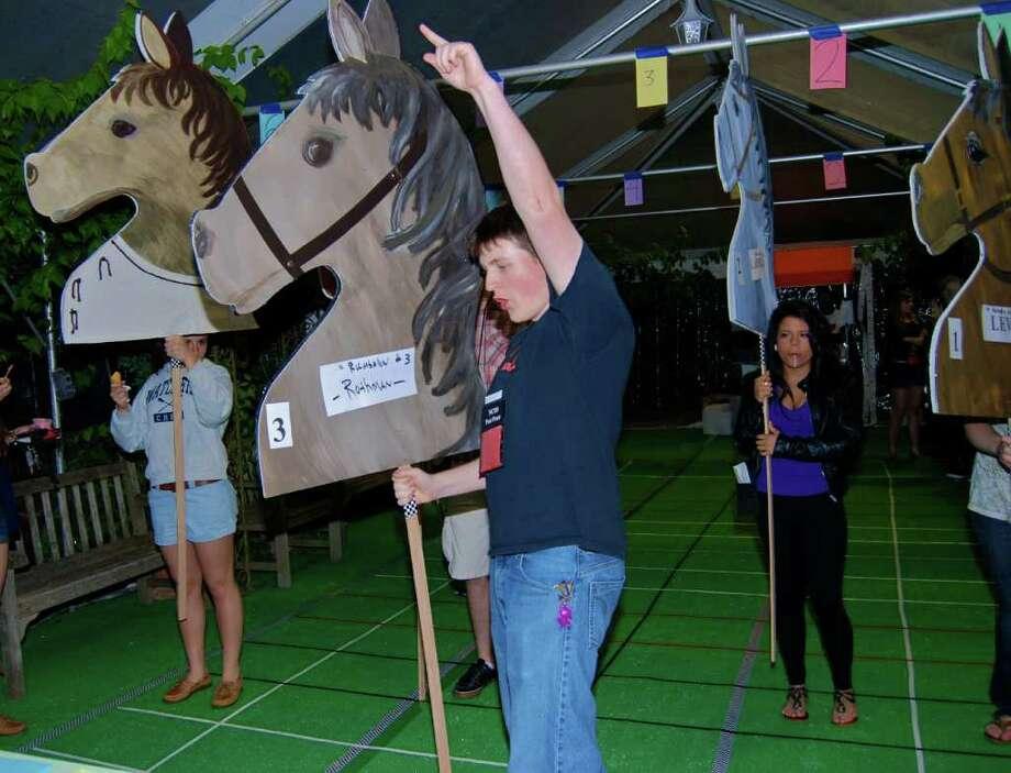 Stas Kurtukov wins big at the horse race! Photo: Jeanna Petersen Shepard / New Canaan News