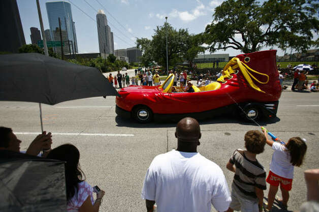 Addicted to shoes? This Boot Car is just for you. Photo: Michael Paulsen/Houston Chronicl