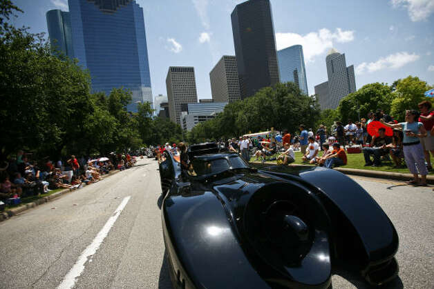 "One of the five original Batmobiles used in the movie ""Batman Returns."" Photo: Michael Paulsen/Houston Chronicl"