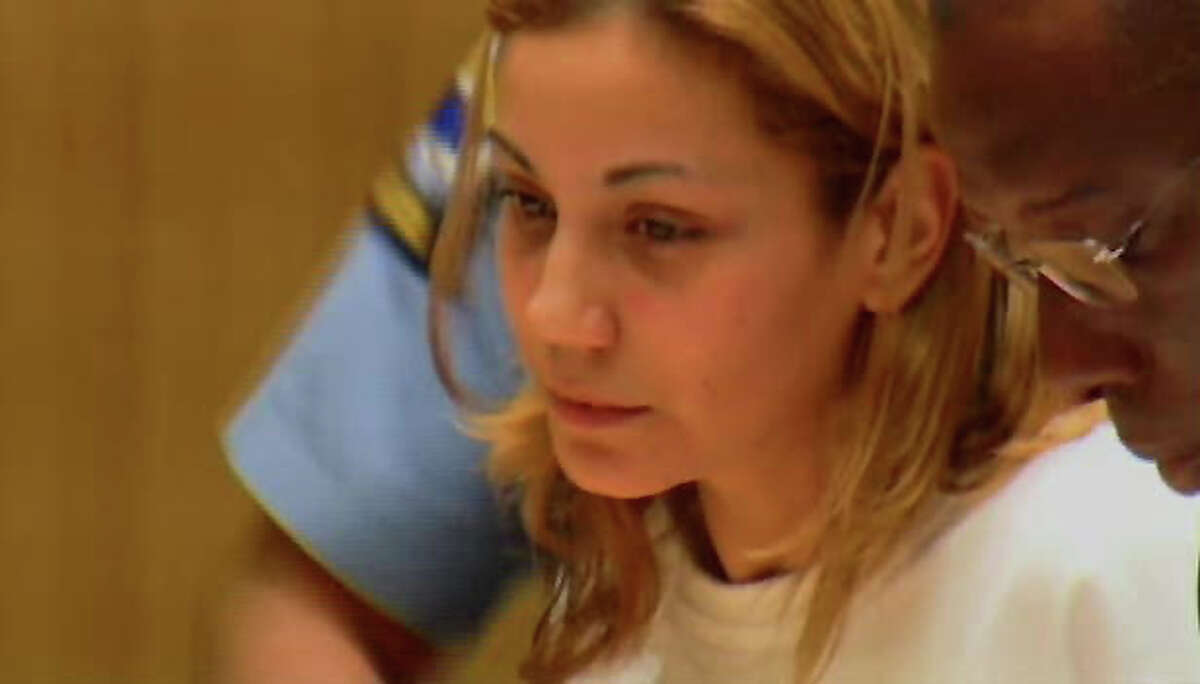 Yadira Torres during her arraignment at state Superior Court in Stamford earlier this month. Torres was released from custody after posting $35,000 bail last week and assigned a public defender Monday despite having a private attorney argue her bond amount, which a judge reduced from $100,000. She faces two counts of second-degree manslaughter and single charges of reckless driving and driving under the influence of alcohol.