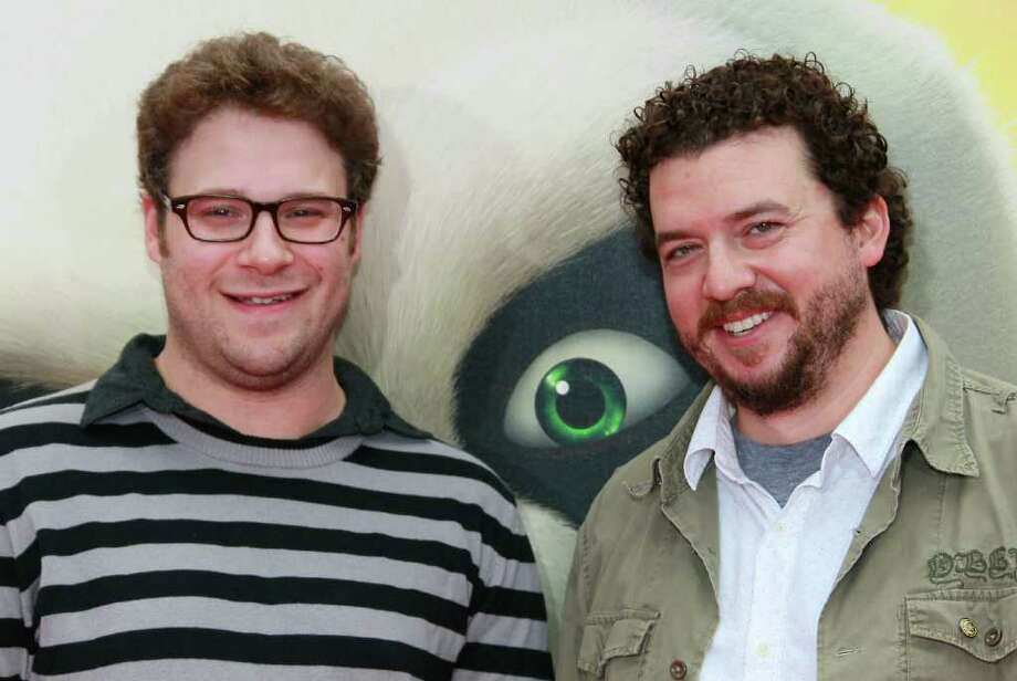 "Actors Seth Rogen (L) and Danny McBride  attend the premiere of DreamWorks Animation's ""Kung Fu Panda 2"" at Mann's Chinese Theatre in Hollywood, California. Photo: David Livingston, Getty Images / 2011 Getty Images"