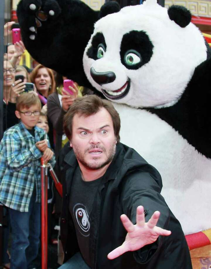 "Actor Jack Black attends the premiere of DreamWorks Animation's ""Kung Fu Panda 2"" at Mann's Chinese Theatre in Hollywood, California. Photo: David Livingston, Getty Images / 2011 Getty Images"
