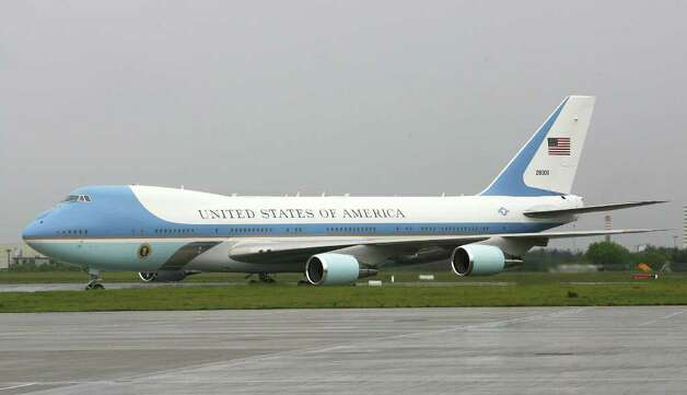 DUBLIN, IRELAND - MAY 23: Air Force One sits on the tarmac after the arrival of U.S. President Barack Obama and first lady Michelle Obama at the Dublin Airport May 23, 2011 in Dublin, Ireland.  Obama is visiting Ireland for one day. He will meet with distant relatives in Moneygall and speak at a rally in central Dublin after a concert.  (Photo by Irish Government - Pool /Getty Images) Photo: Pool, Getty Images / 2011 Getty Images