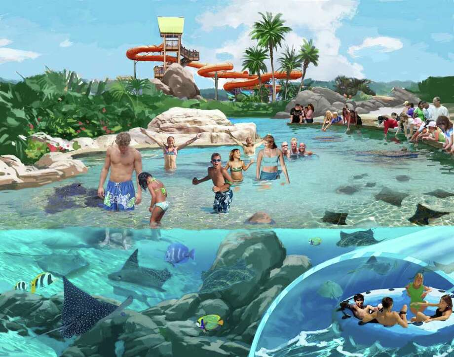 In May 2012, SeaWorld San Antonio will open a new water park, Aquatica an extension of a park that it currently has in Orlando. The beach-themed park will have more than 42,000 square feet of sand and a day resort. The aquatic park features up-close animal experiences, high-speed thrills and relaxing, sandy beaches. Photo: COURTESY ILLUSTRATION / SEAWORLD SAN ANTONIO