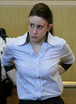 FILE - In a May 20, 2011 file photo, Casey Anthony leaves the courtroom during a recess in jury selection in 'State of Florida v. Casey Marie Anthony' at the Pinellas County Criminal Justice Center in Clearwater, Fla. When Anthony, goes to trial Tuesday, May 24 on murder charges in the death of her daughter, 2-year-old Caylee Anthony, the jury's decision will likely come down to forensic evidence.   (AP Photo/Gary W. Green, Pool, File) Photo: Gary W. Green