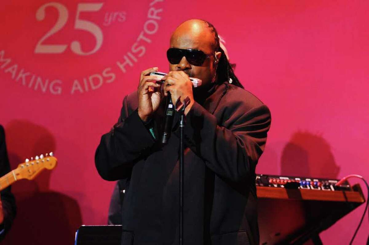 NEW YORK, NY - FEBRUARY 09: Stevie Wonder performs