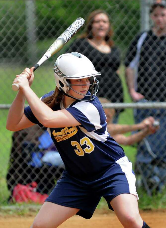 Averill Park's Caraline Wood steps up to bat during their softball game against Colonie on Saturday, May 21, 2011, at Colonie High in Colonie, N.Y. (Cindy Schultz / Times Union) Photo: Cindy Schultz