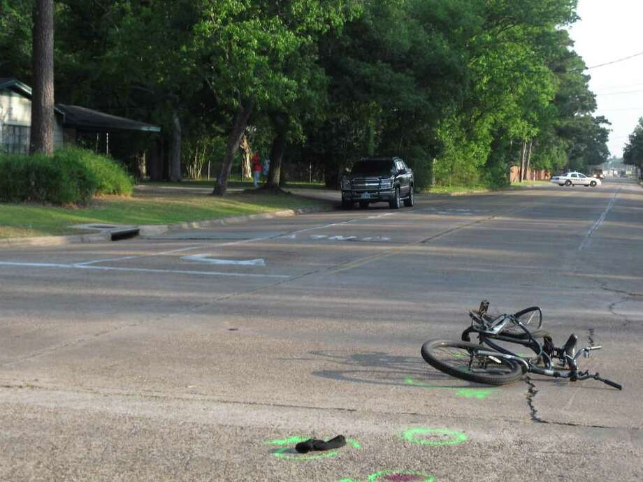 A 62-year-old man was hit and killed while riding his bicycle Tuesday morning near the intersection of Folsom Drive and Crow Road. Photo: Jessica Lipscomb