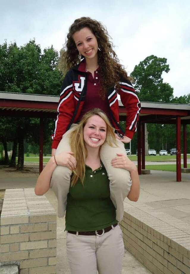 JHS Class of 2011 Valedictorian Charlotte O'Brien and Salutatorian Ashlyne Balusek Photo: Jodie Warner