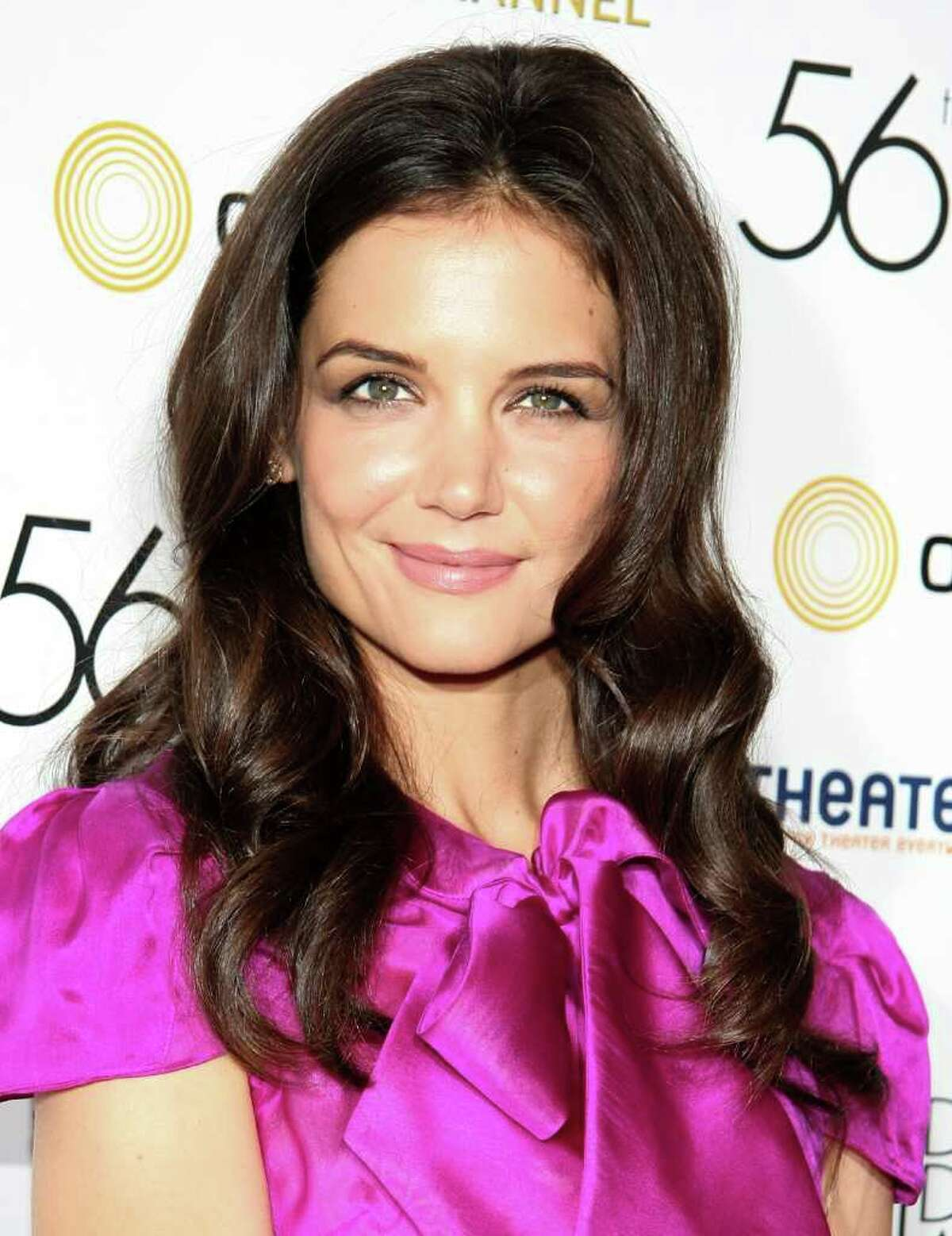 Actress Katie Holmes attends the 56th annual Drama Desk awards at Hammerstein Ballroom in New York City.