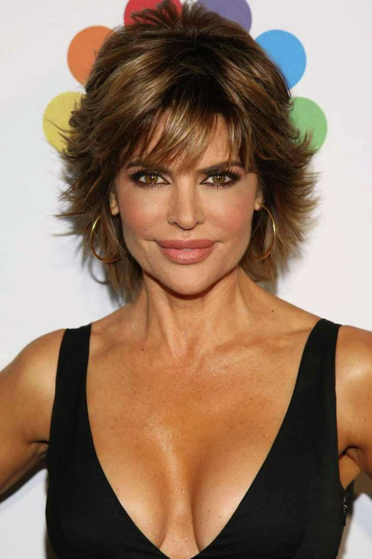 """Actress Lisa Rinna attends """"The Celebrity Apprentice"""" Season 4 Finale at Trump SoHo in New York City."""