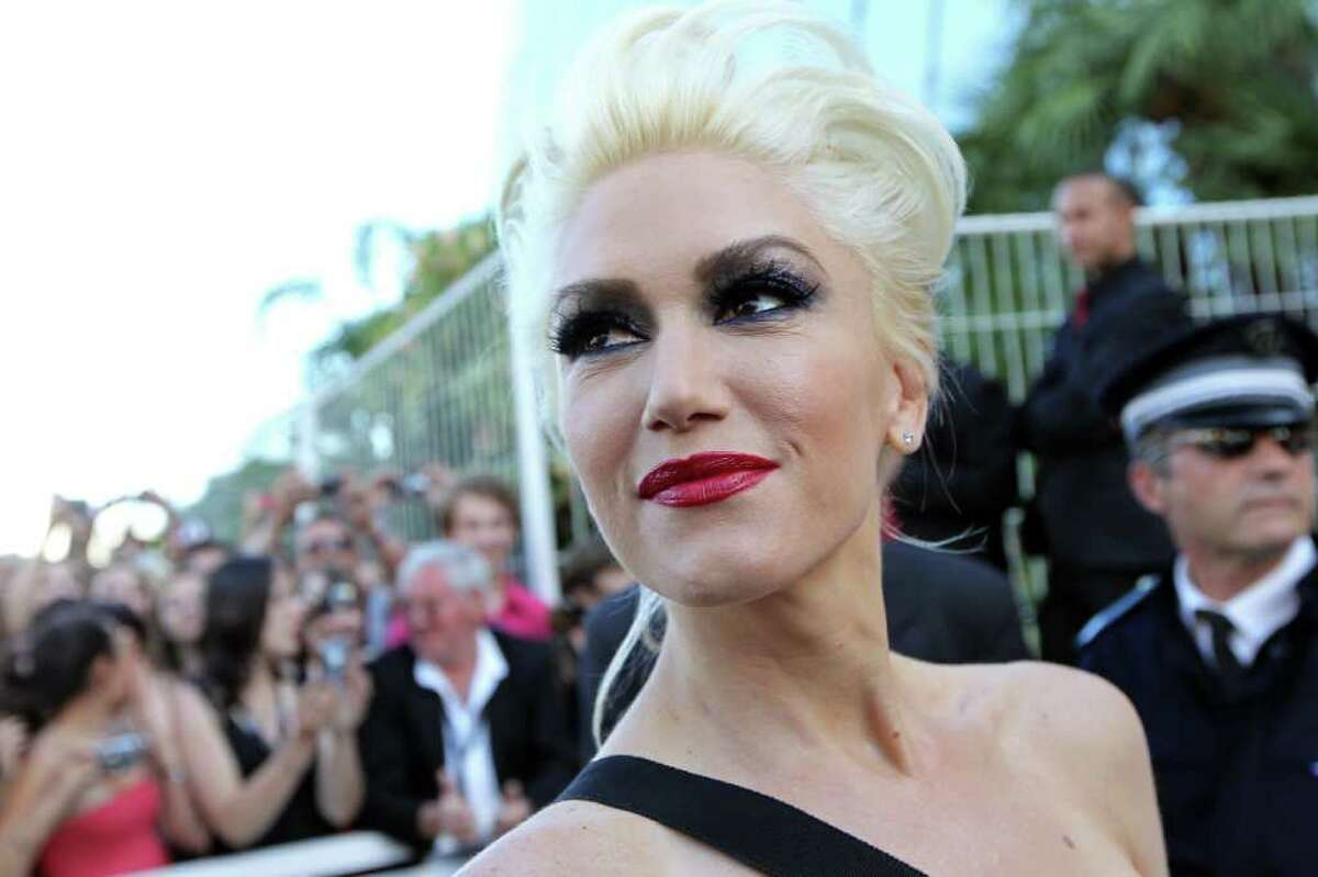 Singer Gwen Stefani poses as she arrives for the screening of