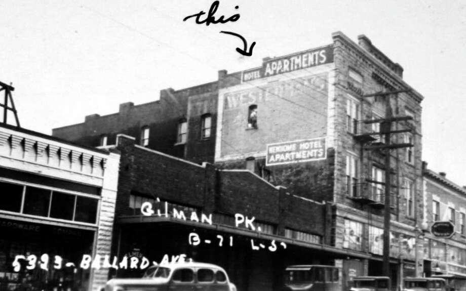 5323 Ballard Avenue Northwest in the summer of 1937. Photo: (Puget Sound Regional Branch Of The Washington State Archives) / (Puget Sound Regional Branch of the Washington State Archives/seattlepi.com file)