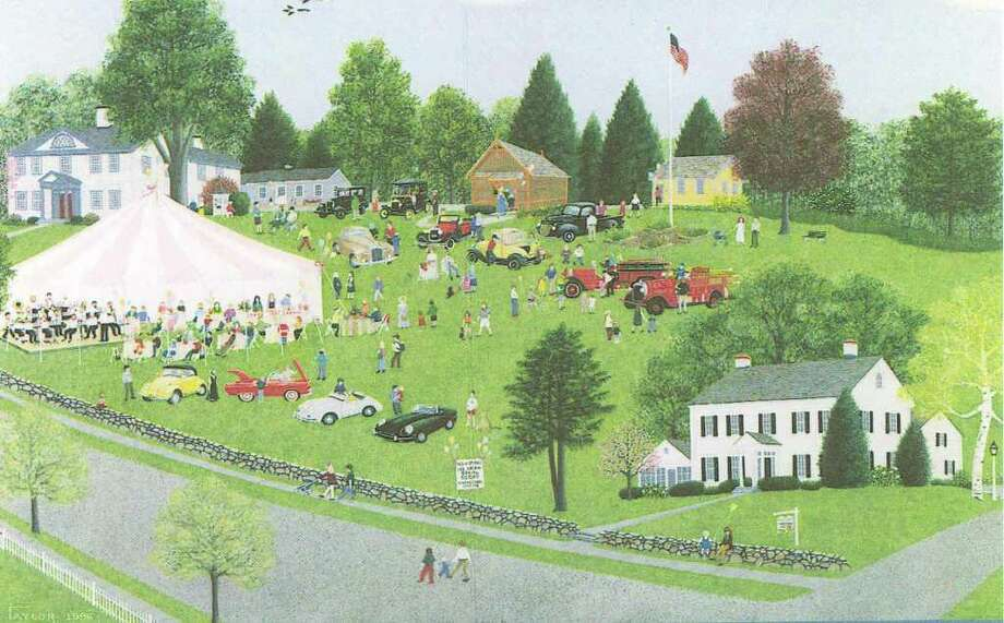 This painting by Virginia Taylor depicts the New Canaan Historical Society's ice cream social. Photo: Contributed Photo / New Canaan News