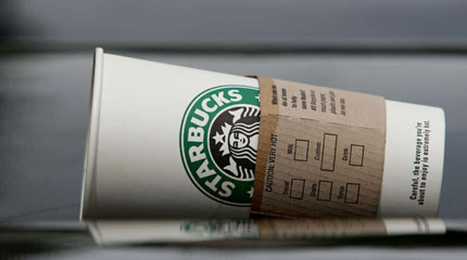 A Starbucks cup is seen discarded on a newspaper rack July 31, 2007 in San Francisco, California. Photo: Getty Images
