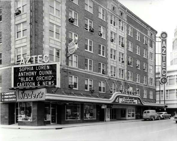 Historical photograph of the Aztec Theatre. Photo: Courtesy Photo