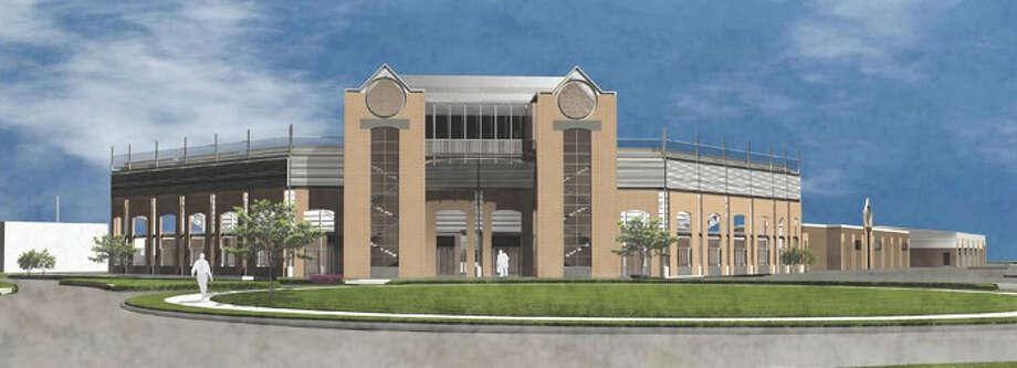 The remodeling envisioned for V.J. Keefe Memorial Stadium. Photo: Courtesy Illustration