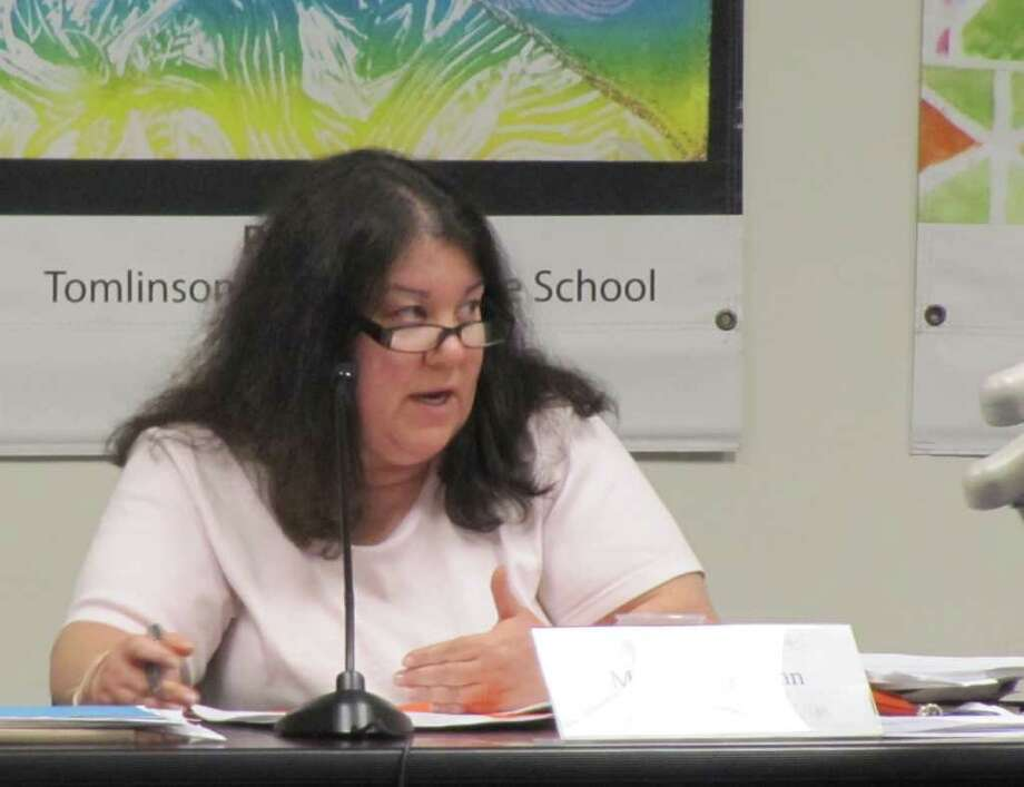Pictured is Fairfield Board of Education member Stacey Zahn. Zahn was one of only two board members to vote against Superintendent of Schools David Title's revised list of budget adjustments. Adjustments were needed to accommodate a $2 million cut to the budget by the Boards of Selectmen and Finance and an additional $800,000 cut by the Representative Town Meeting. Title's modified list of adjustments does away with an earlier proposal to charge a fee for high school students to play sports. Photo: Kirk Lang / Fairfield Citizen