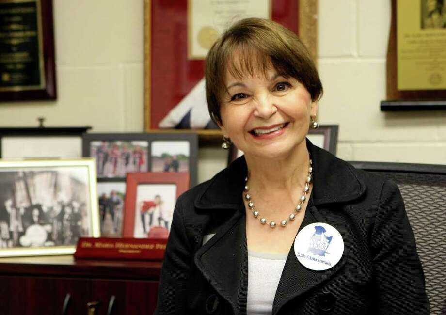CONEXION: Dr. Maria Hernandez Ferrier, president of Texas A&M University is the official campaign spokesperson for Talk About It!, the City of SA's campaign to help make San Antonio a No Kill community.  HELEN L. MONTOYA/hmontoya@conexionsa.com Photo: HELEN L. MONTOYA, San Antonio Express-News / SAN ANTONIO EXPRESS-NEWS