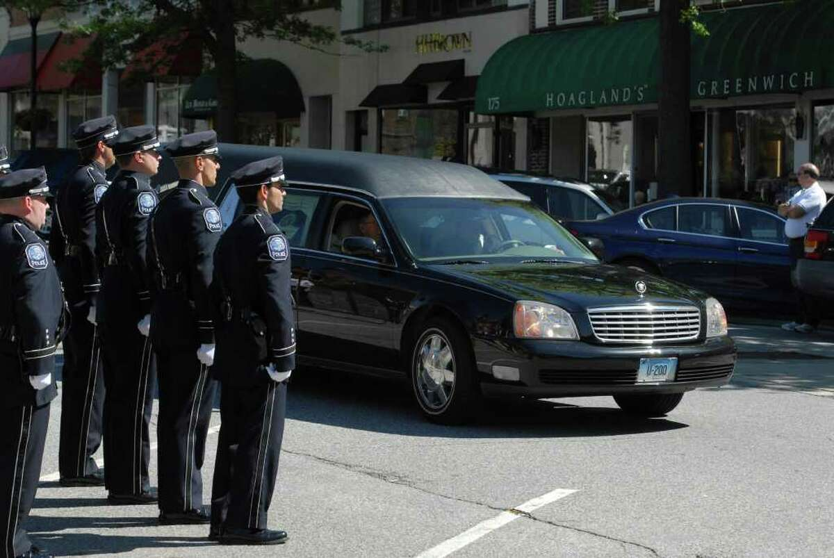 Memorial service Wednesday, May 25, 2011, on Greenwich Avenue for former Greenwich Police Chief William C. Andersen, who died Saturday from complications of heart surgery at Yale-New Haven Hospital. Andersen, who was 67, served as chief from 1986 to 1990.