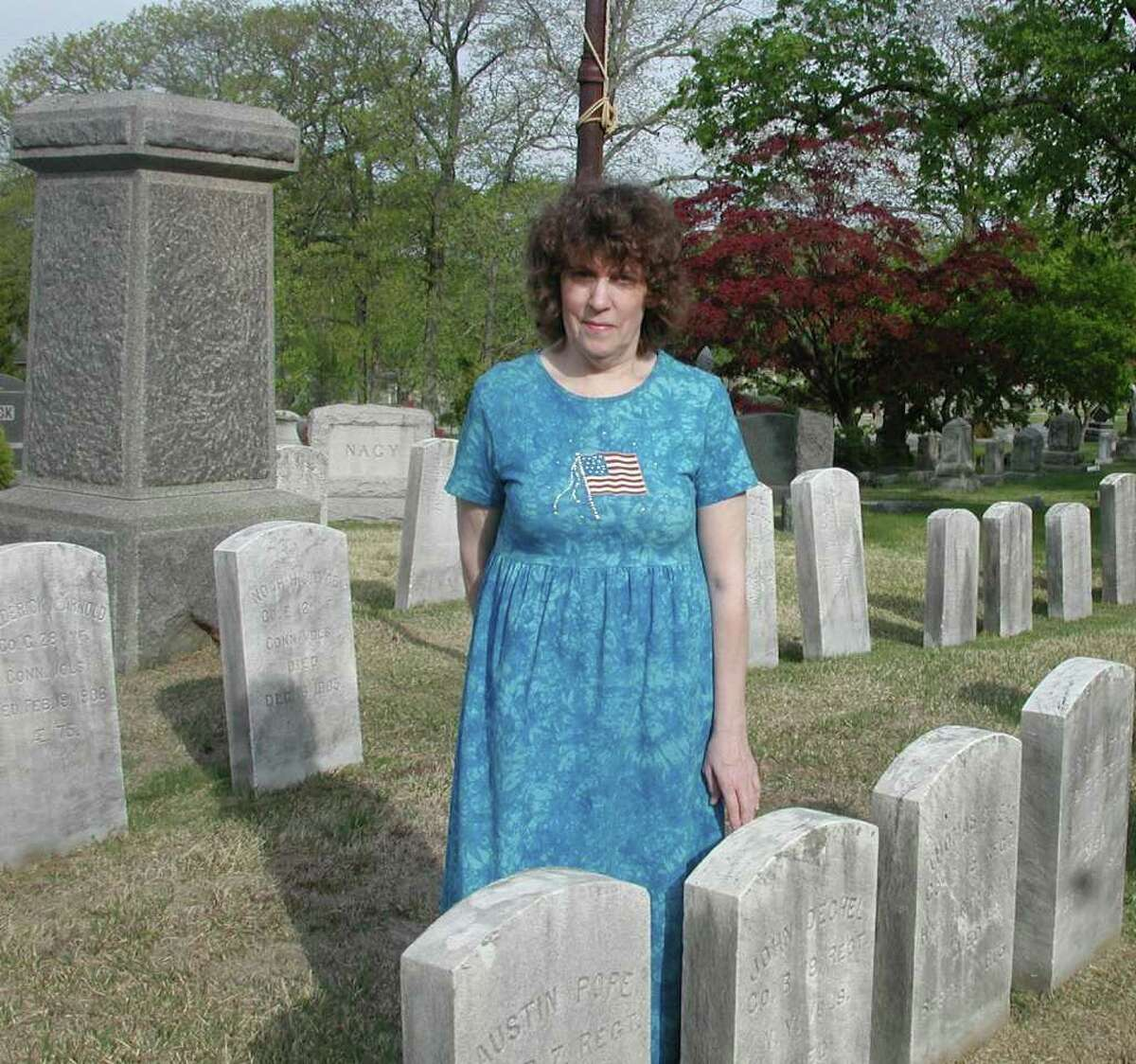 Norwalk historians Madeleine Eckert (pictured) and her husband, Ed, will lead a tour of the Civil War Soldiers Plot at Riverside Cemetery on Saturday, May 28. The tour is just one of many events celebrating Memorial Day in the region.