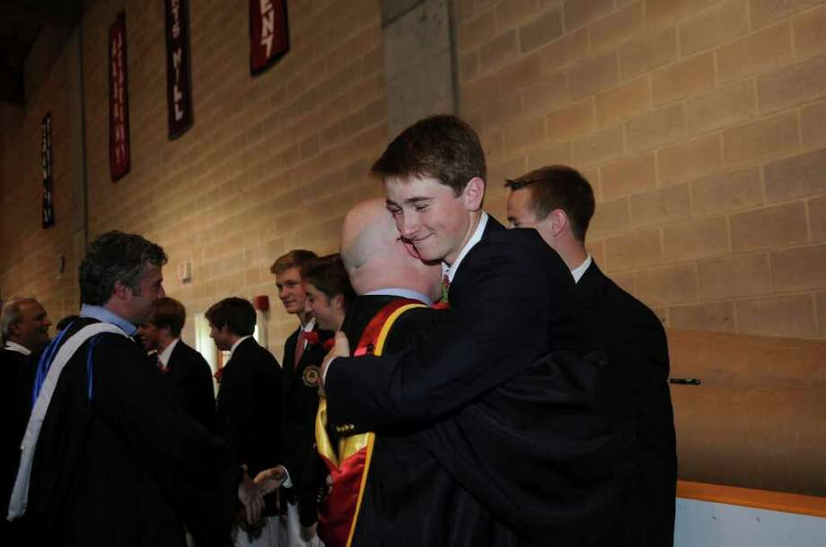 The Brunswick School's 109th commencement on Wednesday, May 25, 2011. Photo: Helen Neafsey / Greenwich Time