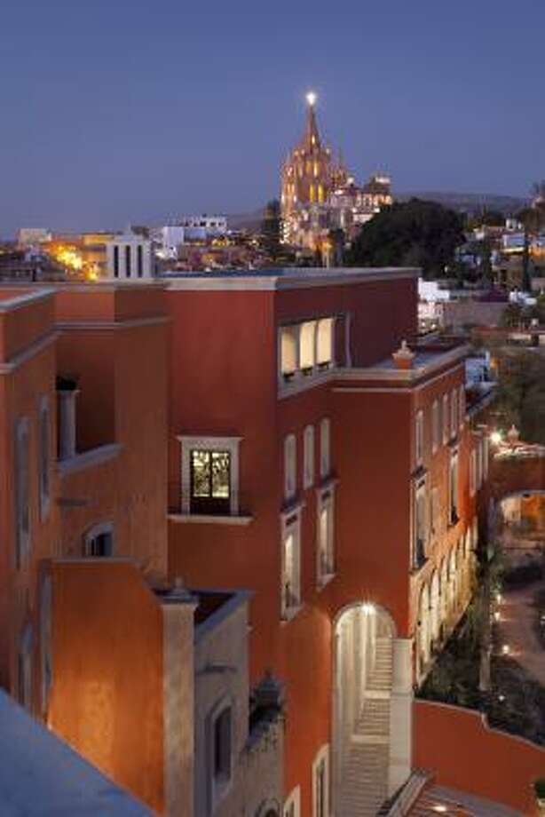 View from Tower Suite terrace at Rosewood San Miguel. Photo: ROSEWOOD SAN MIGUEL