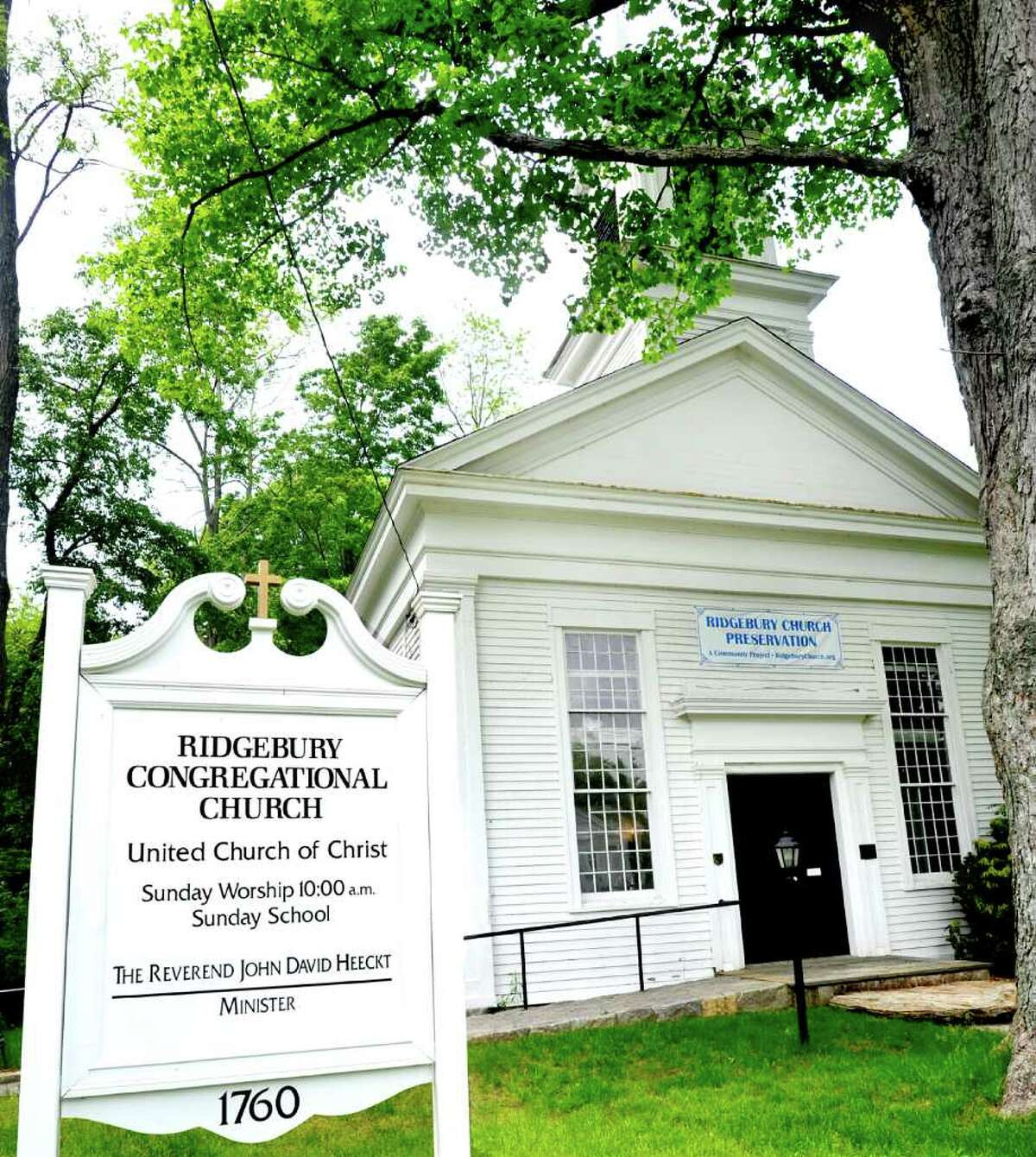 The Ridgebury Congregational Church in Ridgefield,is shown photographed Thursday, May 26, 2011.