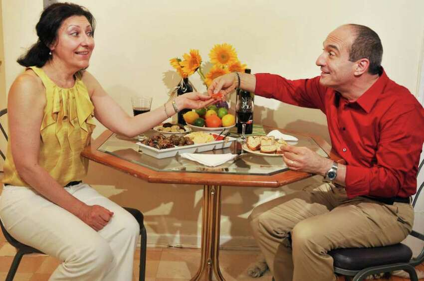 Trained chef and nutritionist Teresa Ingrasciott, left, and her husband Frank Ingrasciott, the writer-performer of a one-man show coming to Cap Rep called