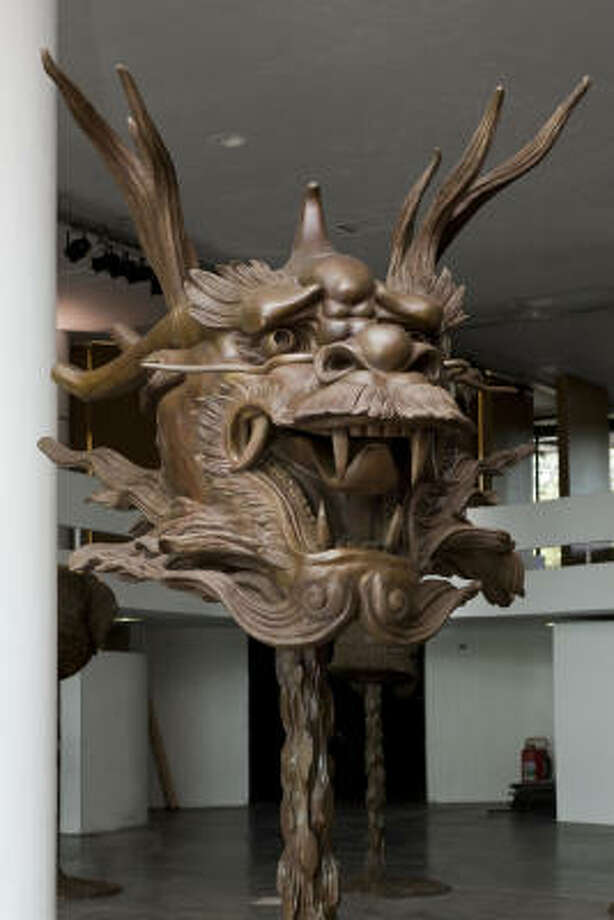 Ai Weiwei's sculpture depicting the head of a dragon is part of his public art exhibition Circle of Animals/Zodiac Heads, which will be displayed in Hermann Park in 2012. Photo: Houston Arts Alliance | AW Asia