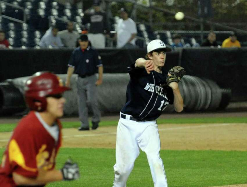 Highlights from FCIAC boys baseball semi-final action between Staples and St. Joseph at the Ballpark at Harbor Yard in Bridgeport on Thursday May 26. 2011.